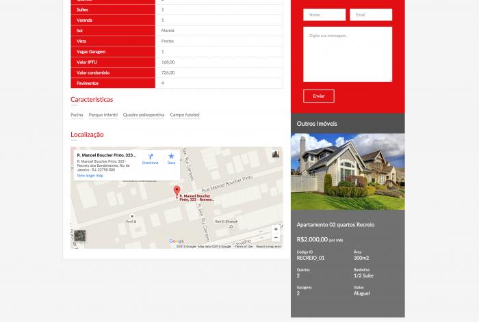 Página de detalhes do imóvel do site da Drummond Imobiliária